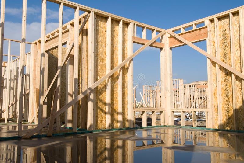 Nieuwe huisframe bouw royalty-vrije stock foto's
