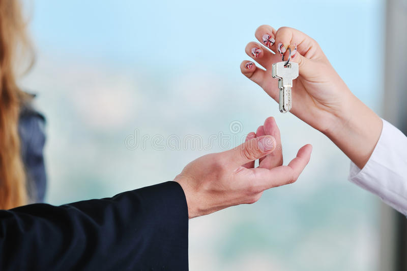 Nieuwe huissleutels royalty-vrije stock foto
