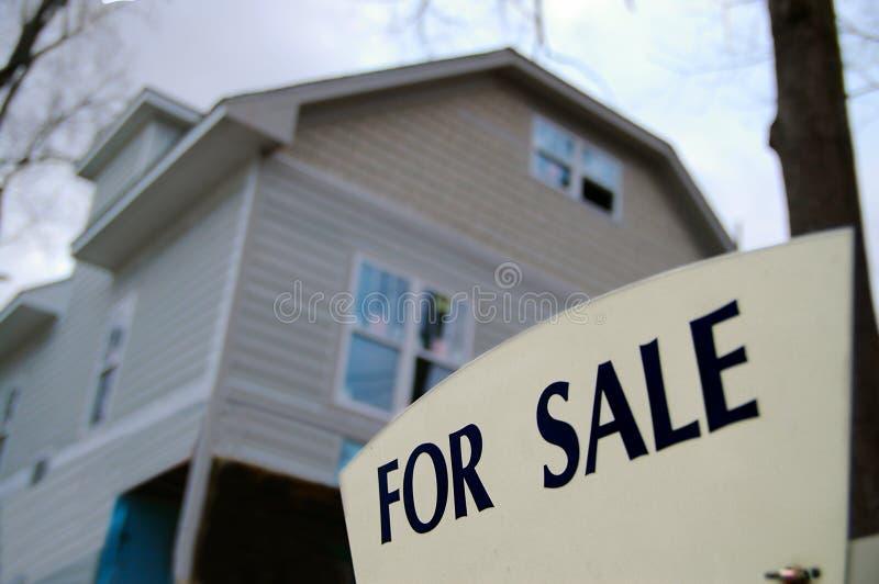 Nieuwe huisverkoop stock afbeeldingen