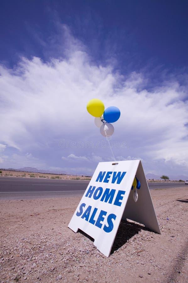 Nieuwe huisverkoop royalty-vrije stock afbeelding