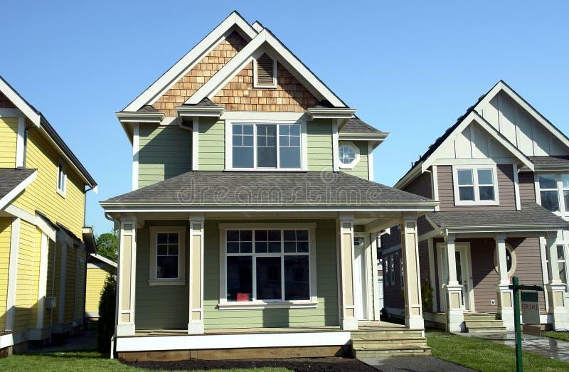 Nieuwe Huizen voor Verkoop royalty-vrije stock afbeeldingen