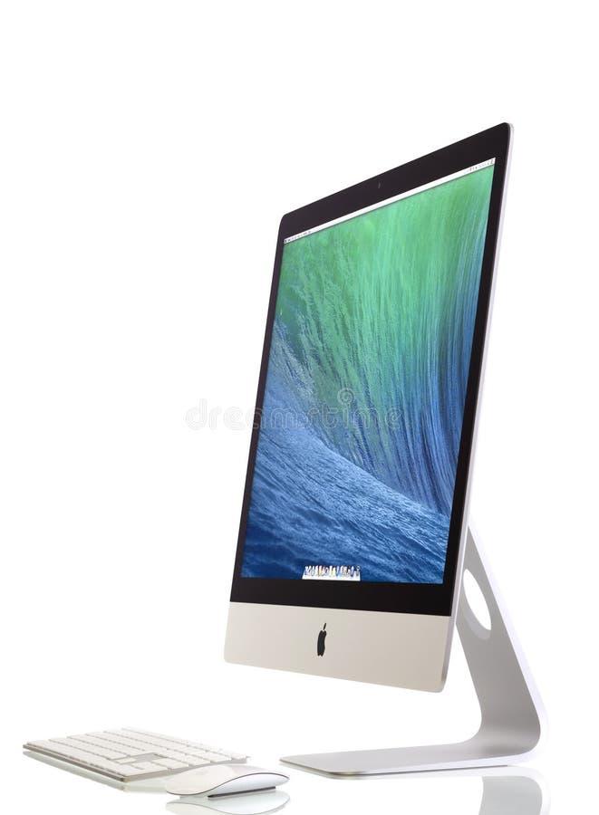 Nieuwe iMac 27 met OS X Non-conformisten stock afbeeldingen