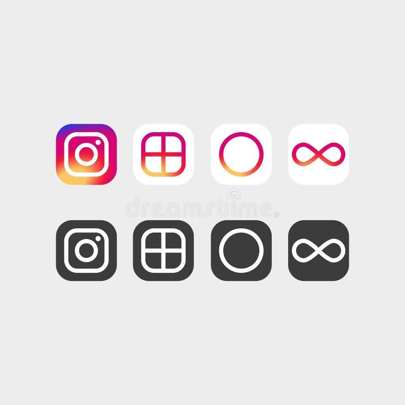 Nieuwe Instagram logotype vector illustratie