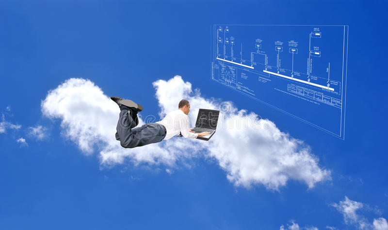 Nieuwe Internet technologie stock foto's