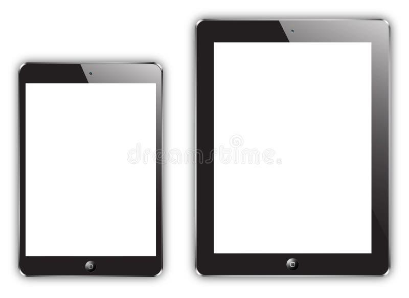 Nieuwe iPad mini & iPad vector illustratie