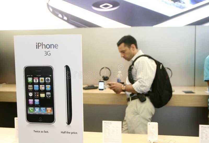 Nieuwe iphone 3G op Verkoop stock foto's