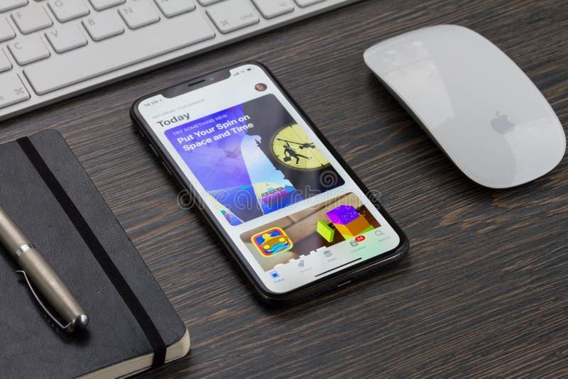 Nieuwe iPhone X stock foto