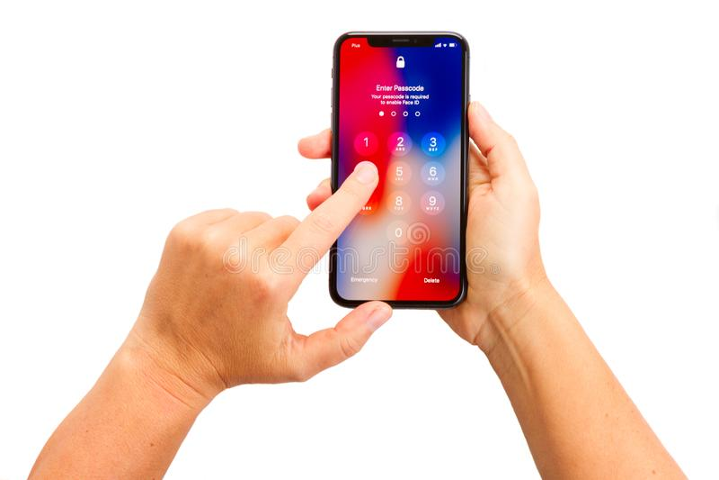 Nieuwe iPhone X royalty-vrije stock foto