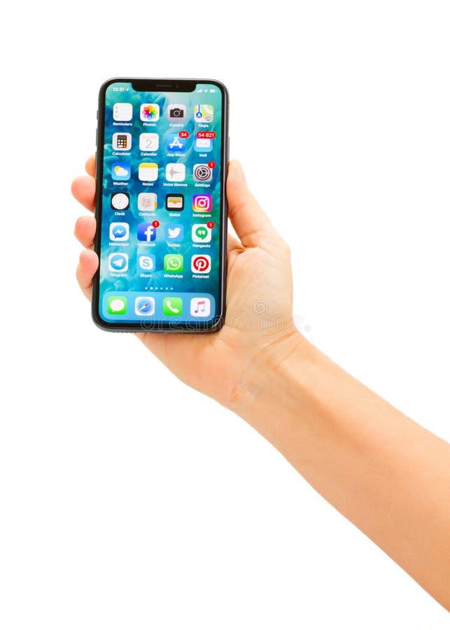 Nieuwe iPhone X royalty-vrije stock afbeeldingen