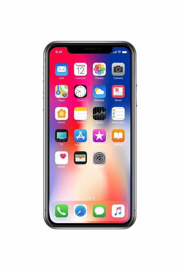 Nieuwe iPhone X stock fotografie
