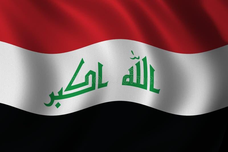 Nieuwe Iraakse vlag stock illustratie