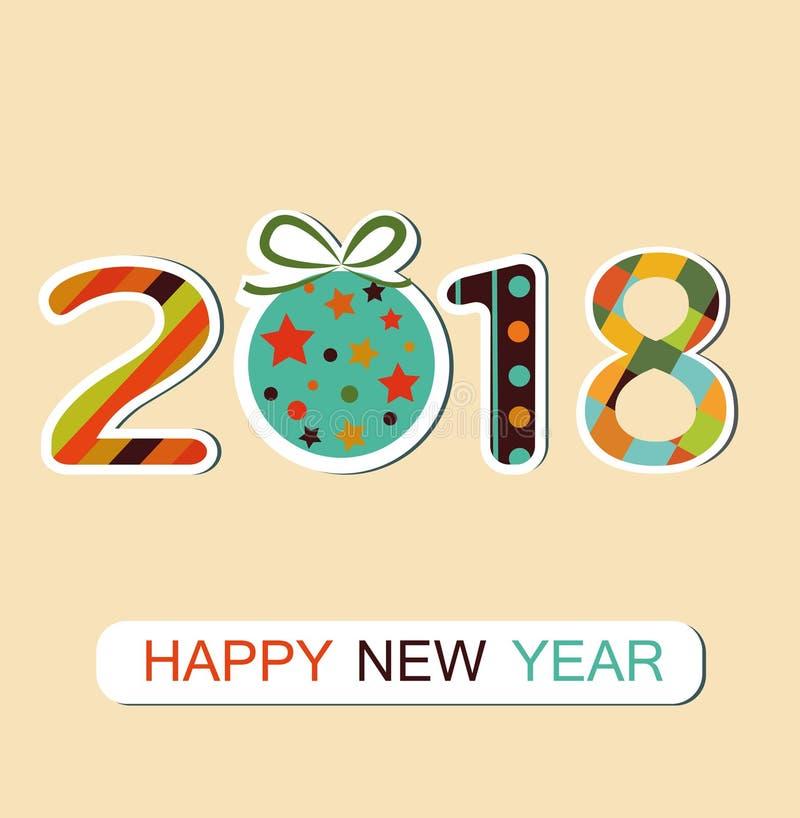Nieuwe jaar 2018 achtergrond vector illustratie