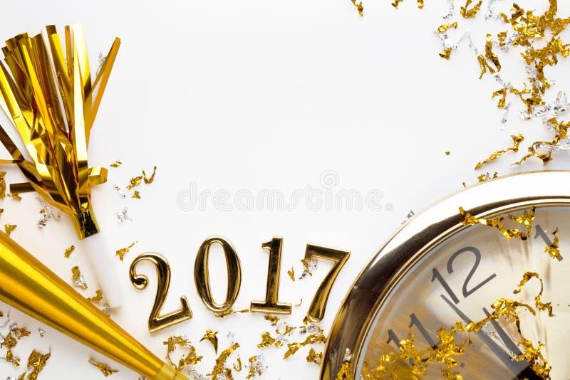 Nieuwe jaar 2017 decoratie royalty-vrije stock fotografie