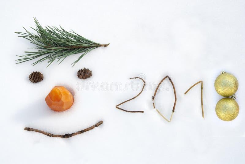 2018 Nieuwe jaarachtergrond royalty-vrije stock afbeelding