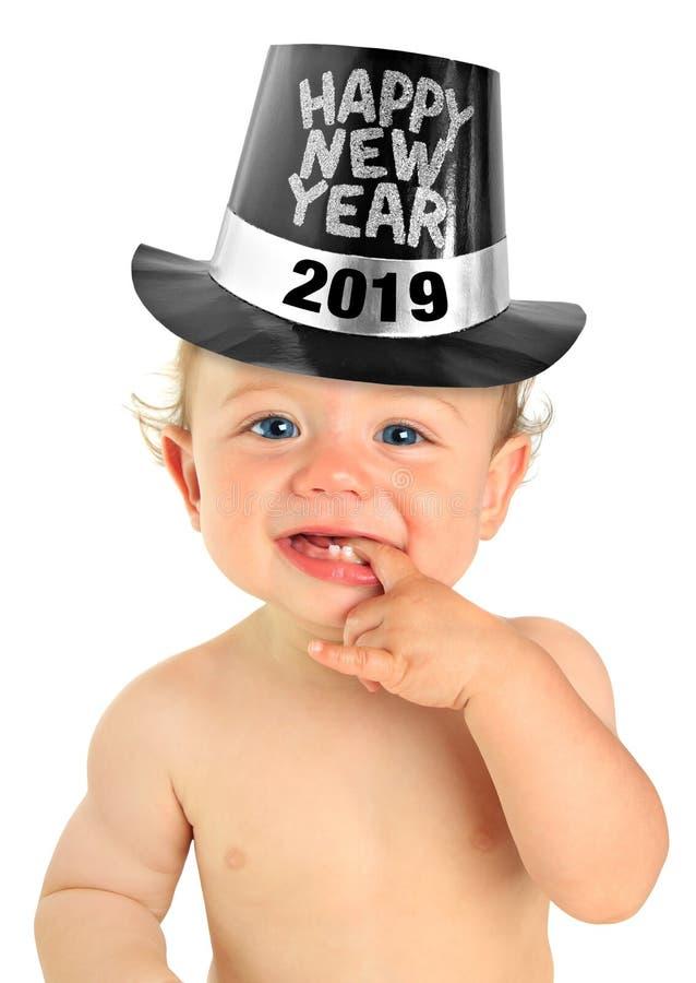 Nieuwe jaarbaby 2019 stock afbeeldingen