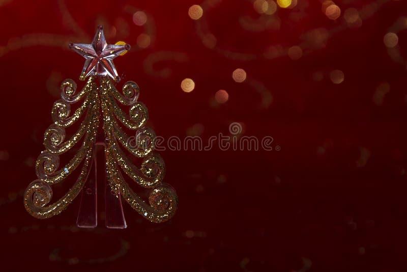Nieuwe jaaruitnodiging Kerstmisbeeld met een stuk speelgoed visgraat stock afbeeldingen