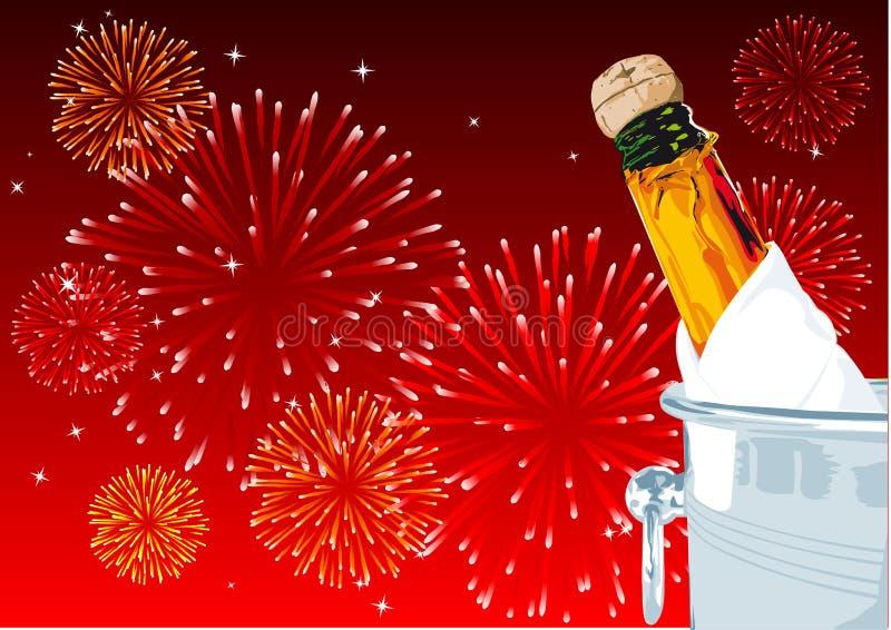 Nieuwe jarenvooravond vector illustratie