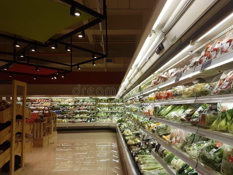 Nieuwe Jaya Grocer Store bij DA: mensen USJ royalty-vrije stock afbeelding