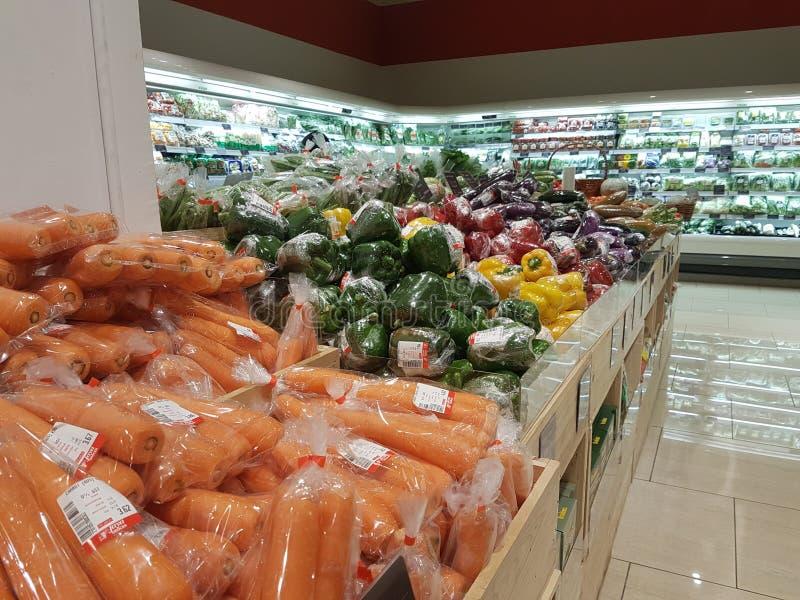 Nieuwe Jaya Grocer Store bij DA: mensen USJ royalty-vrije stock afbeeldingen