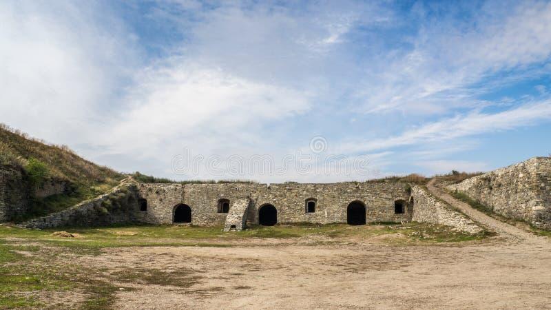 Nieuwe kasteelmening van kamenec-Podolskiy stad, de Oekraïne royalty-vrije stock foto