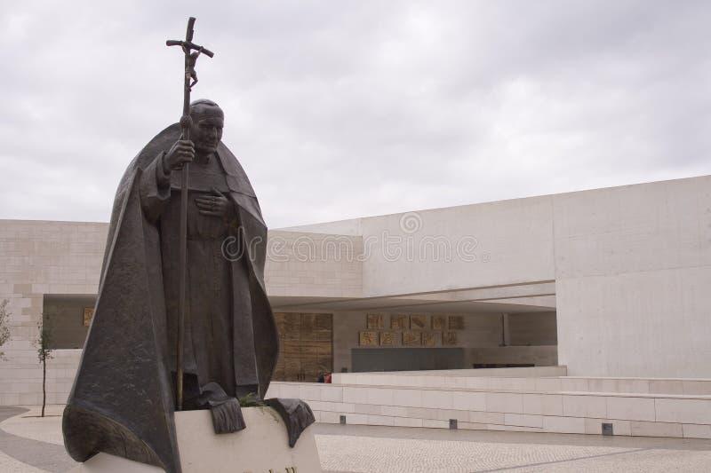 Nieuwe kathedraal in Fatima Portugal stock foto