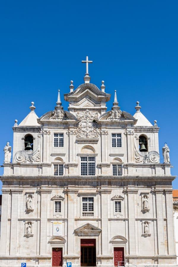 Nieuwe Kathedraal van Coimbra, Portugal stock afbeelding