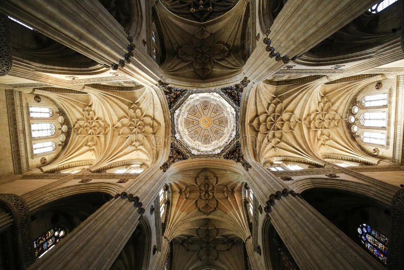 Nieuwe Kathedraal van Salamanca royalty-vrije stock afbeelding