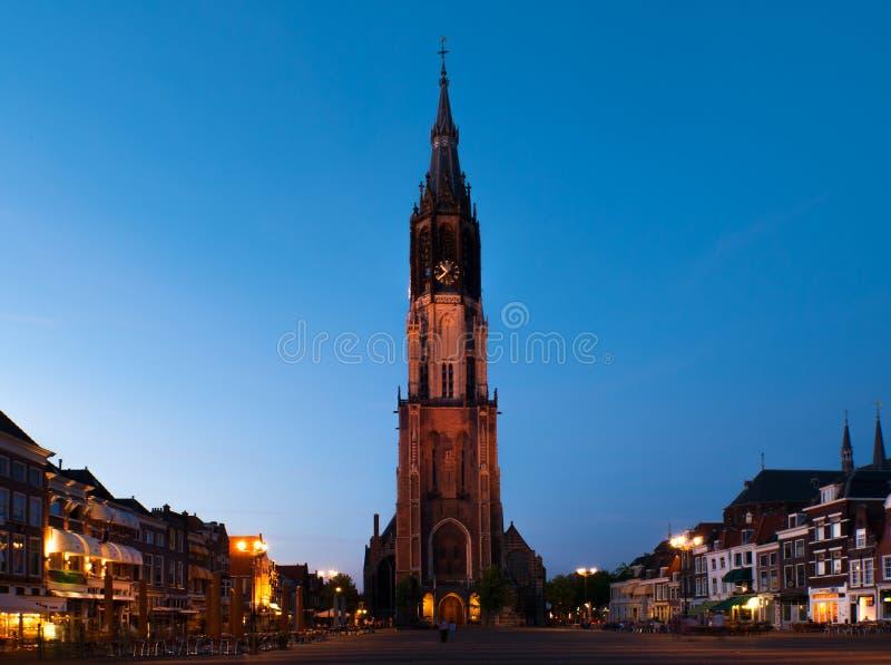 Nieuwe Kerk在德尔福特,荷兰 库存图片