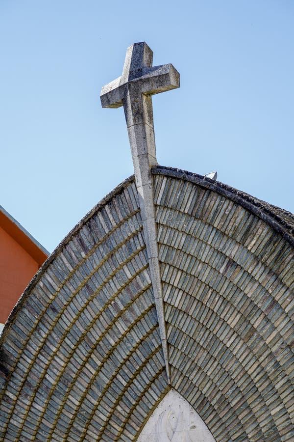 Nieuwe Kerk van de Parochieveronderstelling van Pont DE Suert, Spanje royalty-vrije stock foto