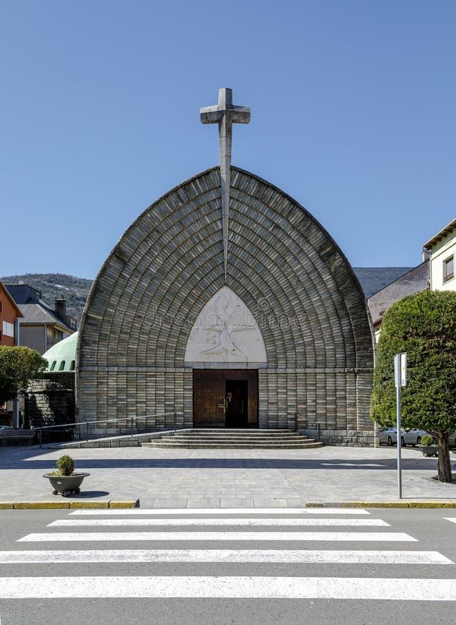 Nieuwe Kerk van de Parochieveronderstelling van Pont DE Suert, Spanje royalty-vrije stock foto's