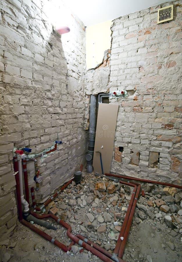Nieuwe loodgieterswerkinstallatie stock afbeeldingen