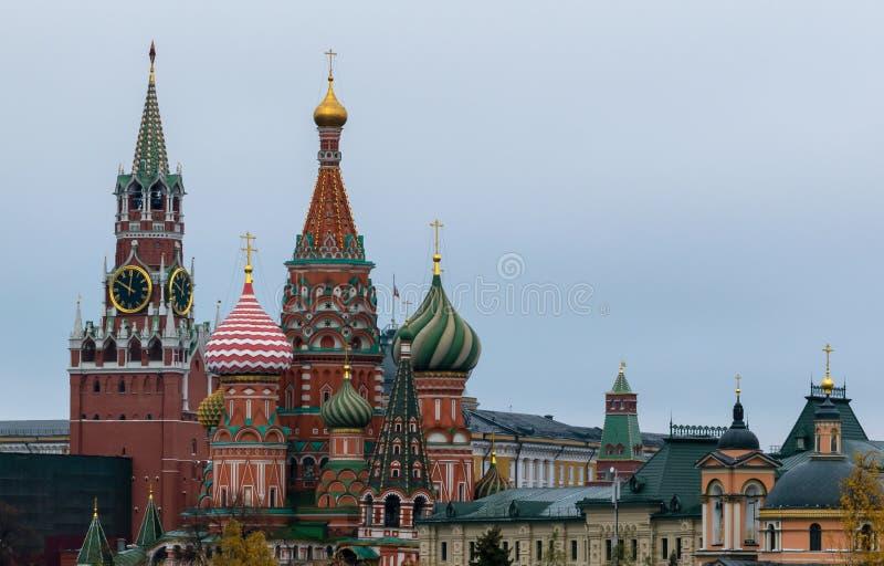 Nieuwe meningen van Moskou het Kremlin royalty-vrije stock afbeeldingen