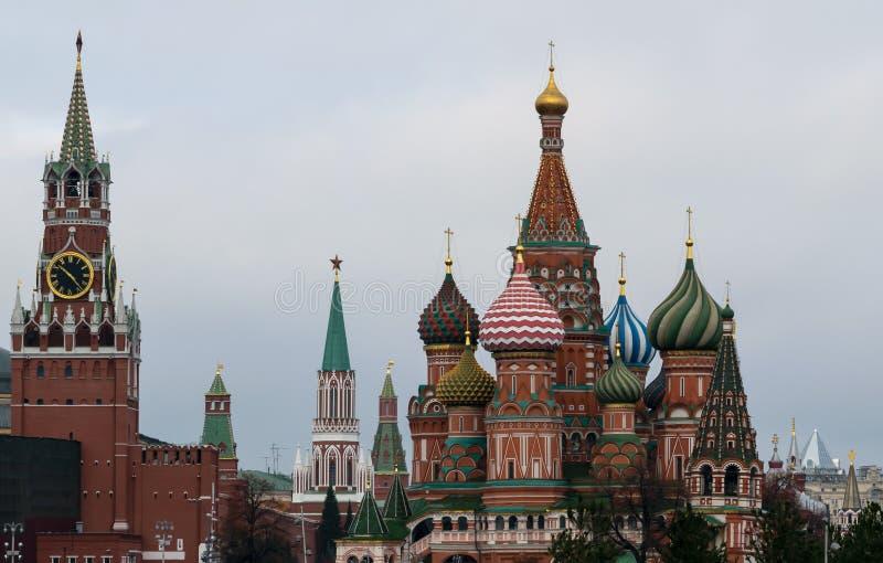 Nieuwe meningen van Moskou het Kremlin royalty-vrije stock afbeelding