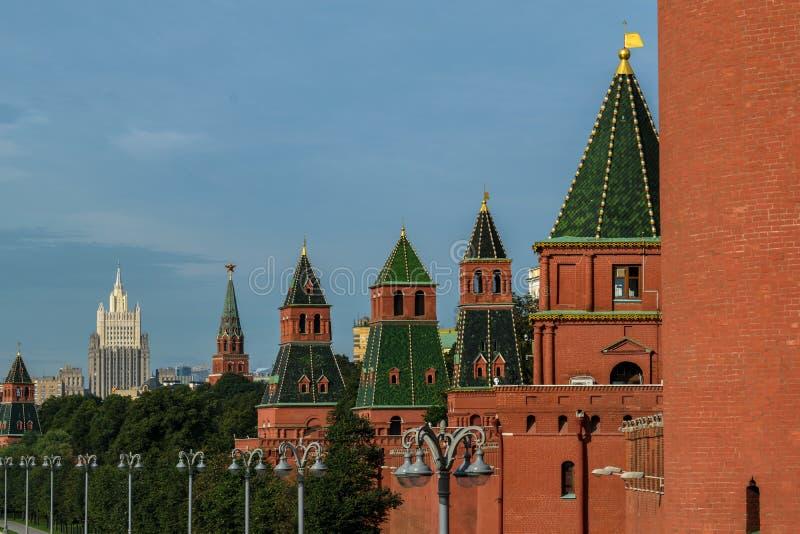 Nieuwe meningen van Moskou het Kremlin stock afbeelding