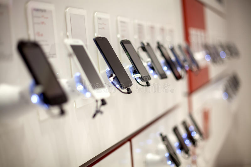 Nieuwe mobiele telefoons stock foto's