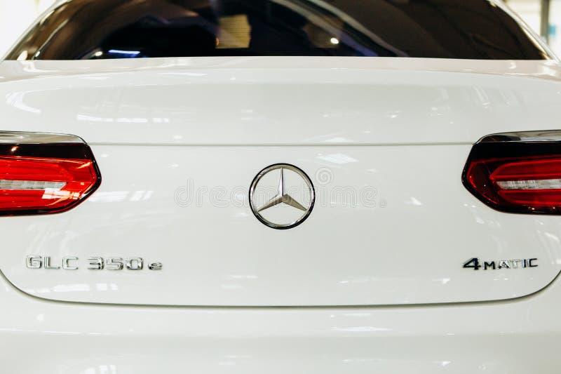 Nieuwe moderne elektrische de GLC350e EQ Macht van automercedes-benz royalty-vrije stock fotografie