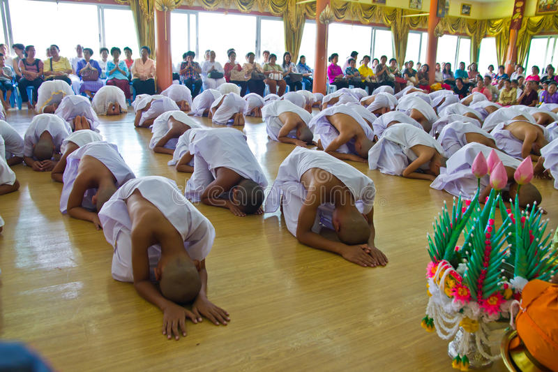 Nieuwe monnik in chiangMAI, THAILAND royalty-vrije stock afbeelding