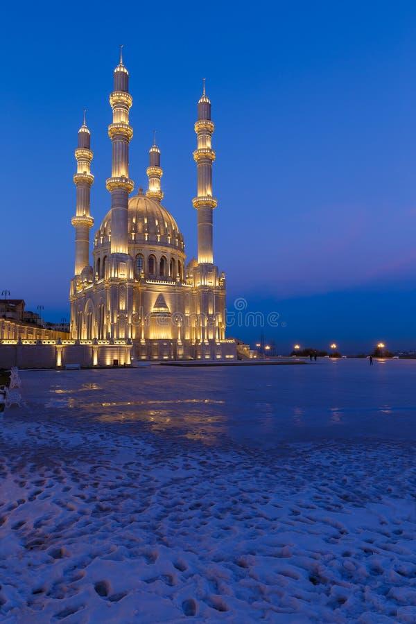 Nieuwe moskee in Baku royalty-vrije stock foto's