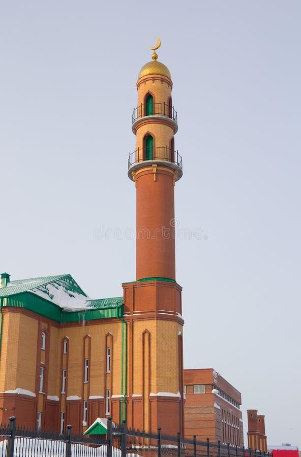 Nieuwe moskee in Novosibirsk, Russische Federatie stock afbeeldingen