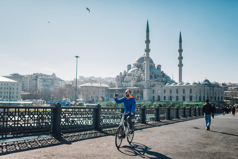 Nieuwe Moskee (Yeni Cami) royalty-vrije stock fotografie