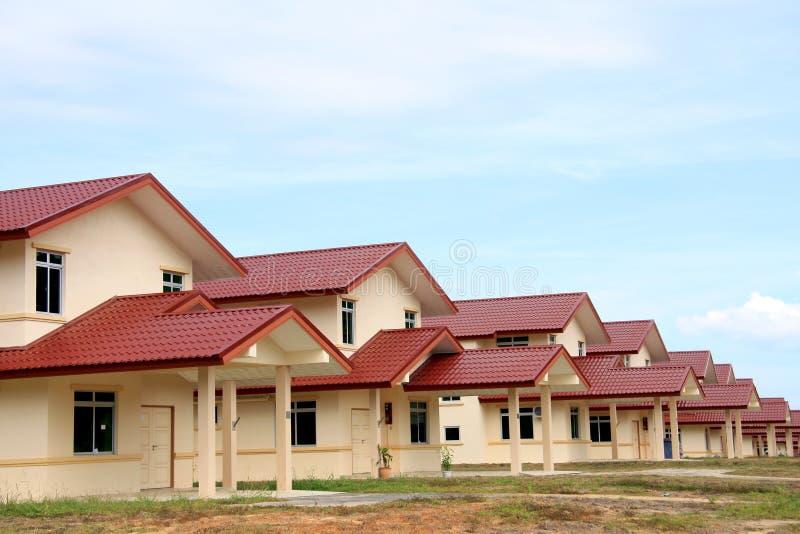 Nieuwe ontwikkelde huisvesting stock afbeelding
