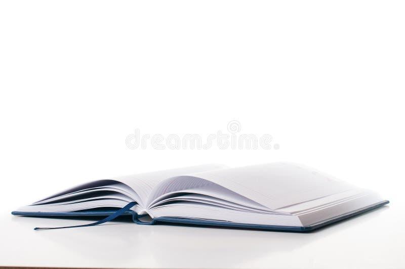 Nieuwe open bedrijfs geïsoleerdep agenda stock fotografie