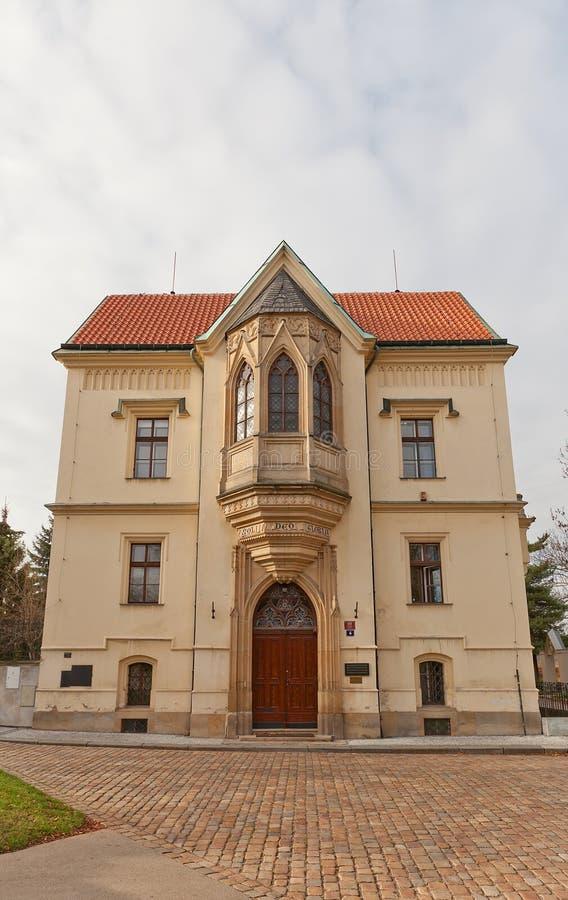 Nieuwe Provost Woonplaats (1872) in Vysehrad van Praag royalty-vrije stock afbeelding