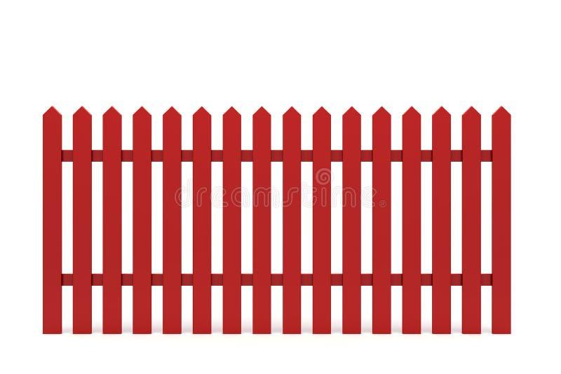 Nieuwe rode omheining royalty-vrije illustratie