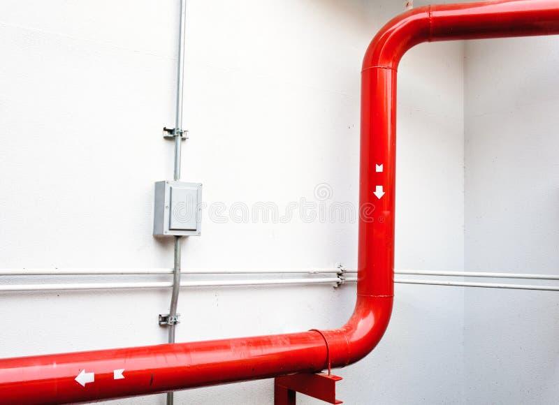 Nieuwe rode pijp stock afbeeldingen
