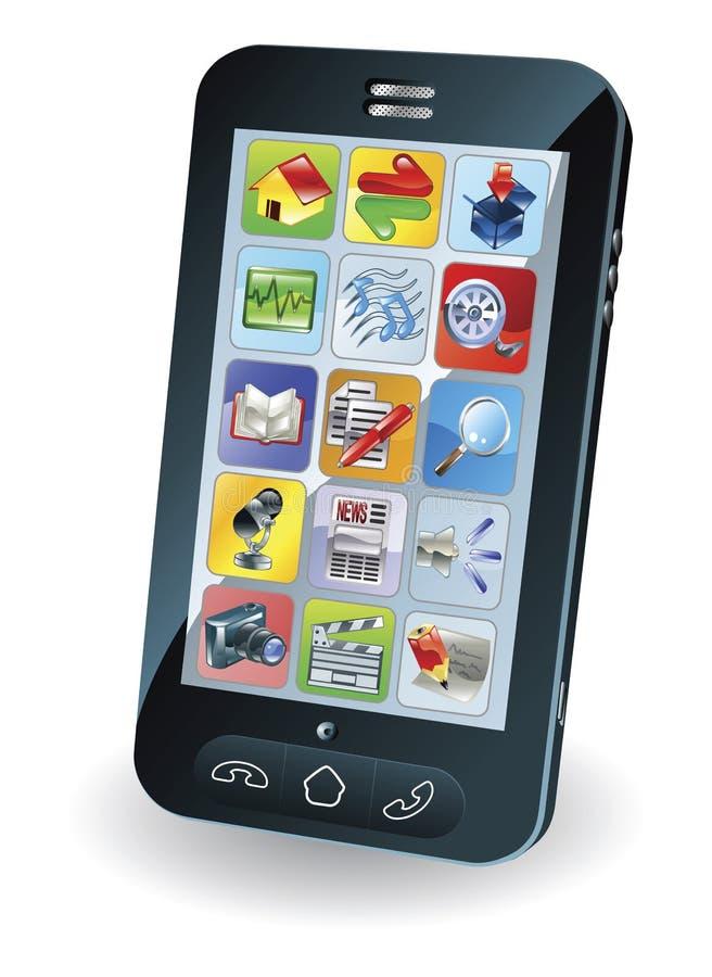 Nieuwe slimme mobiele telefoon stock illustratie