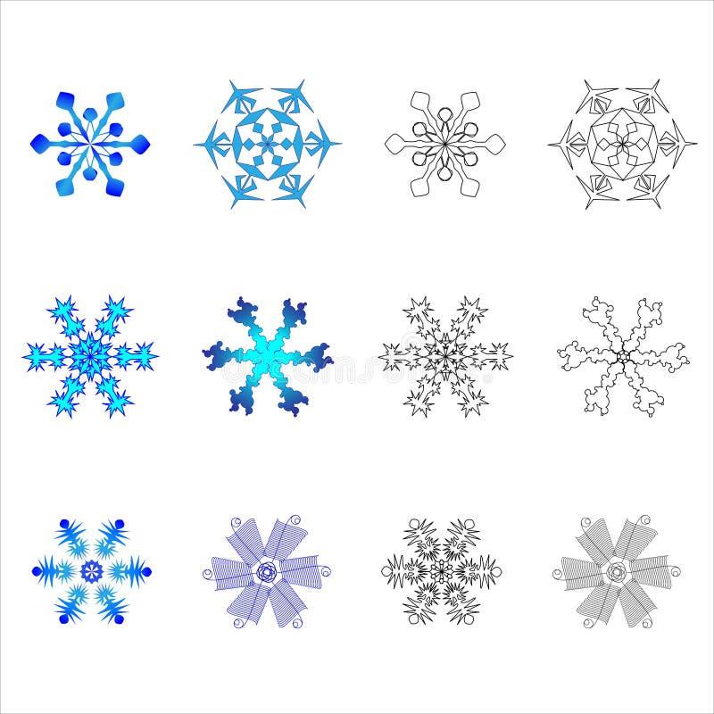Nieuwe Sneeuwvlokken royalty-vrije stock foto's