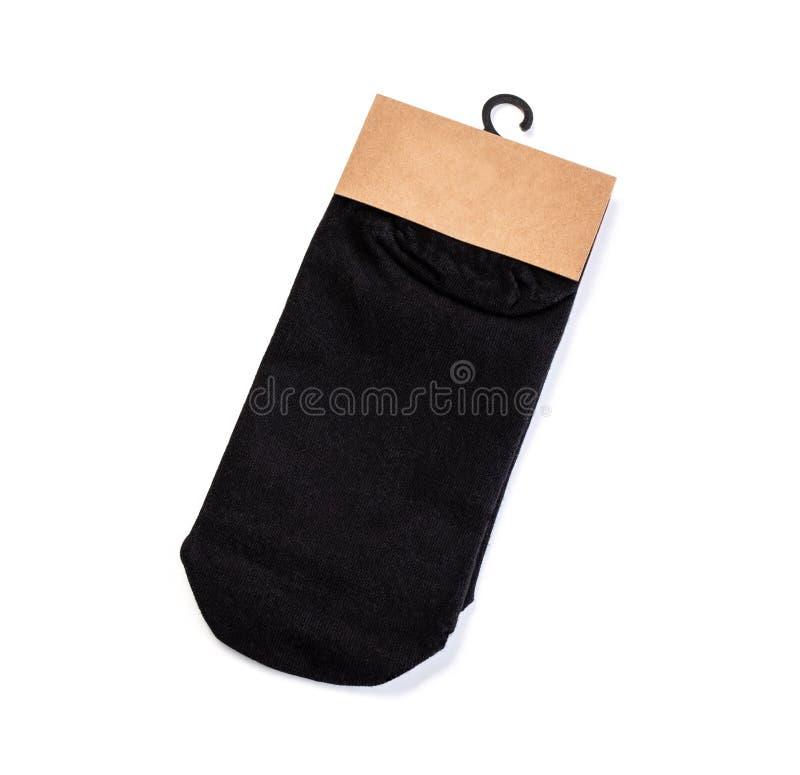Nieuwe sokken op een witte achtergrond royalty-vrije stock afbeeldingen