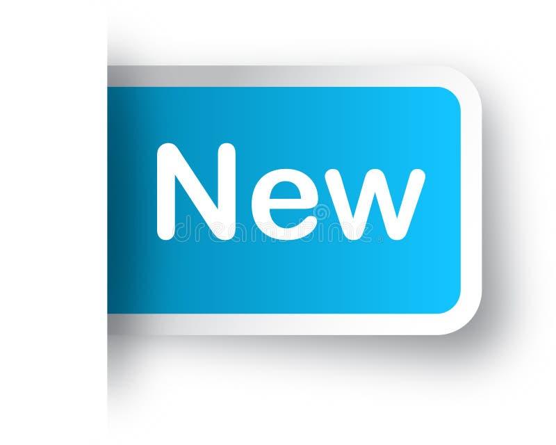 Nieuwe sticker vector illustratie