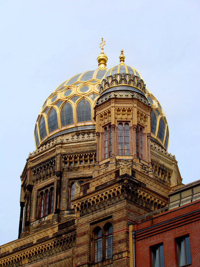 Nieuwe Synagoge in Berlijn stock afbeeldingen